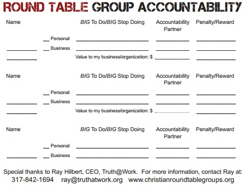 Round Table Group Accountability
